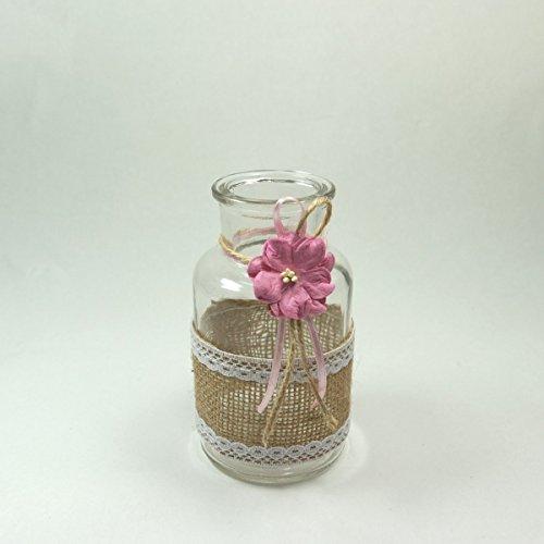 Wertheim - Florero 1 jarrón de Cristal Botella de decoración ...