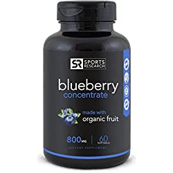 Wild Blueberry Concentrate - Made from Organic Berries   GMO & Gluten Free - Packed with Antioxidants and Phytonutrients   60 Liquid Softgels - 2 Month Supply!