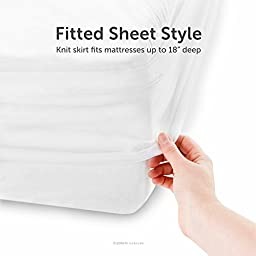 BROOKSIDE Soft Jersey Mattress Protector, Waterproof and Dust Mite Proof, Queen