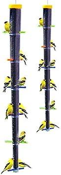 Finch Bird Feeders Tornado Rainbow Garden Outdoor Hanging 12 Feeding Station