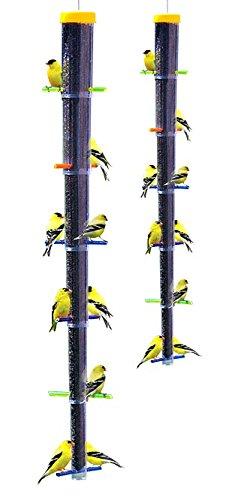 Pine Finch Feeder - BestNest S&K Tornado Rainbow Collapsible Finch Feeders, Pack of 2