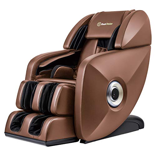 - Real Relax 2019 Premium SL-Track 3D Deep Zero Gravity Massage Chair Recliner with Speakers, Brown