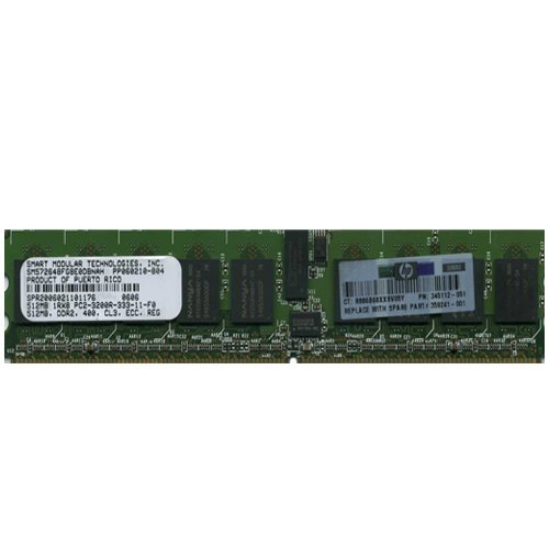 345112-851 512Mb Ddr2 400Mhz Pc2-3200 240-Pin Cl3 Ecc Registered ()