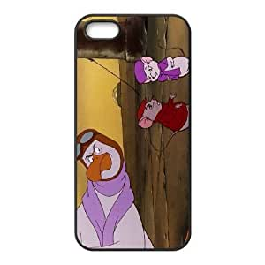 Durable Rubber Cases iPhone 5, 5S Cell Phone Case Black Cyoeh The Rescuers Protection Cover