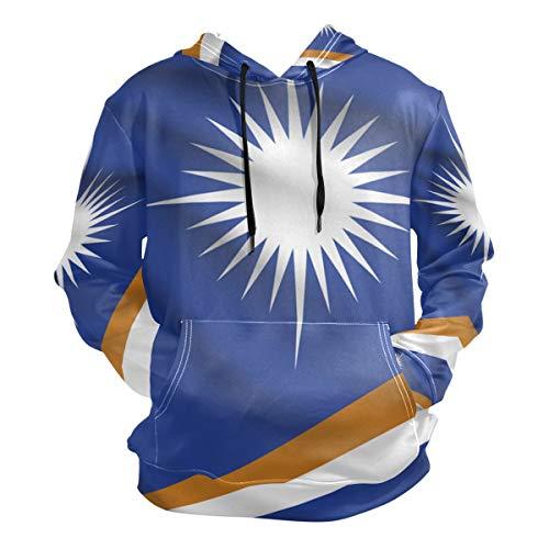 CoolPrintAll Marshall Islands Flag Men's Pullover Hooded Sweatshirt