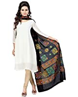 Banjara Women's Kutch Work Cotton Dupatta Chakachak at amazon