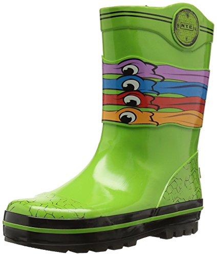 Nickelodeon Boys' Ninja Turtles Rain Boot, Green, 7/8 Medium US Toddler