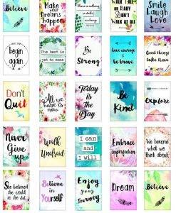 Encouraging Words - 82351 - Ceramic Decal - Enamel Decal - Glass Decal - Waterslide Decal - 3 Different Size Sheet (Images) to Choose from. Choose Either Ceramic (Enamel) or Glass Fusing Decals by XpressionDecals