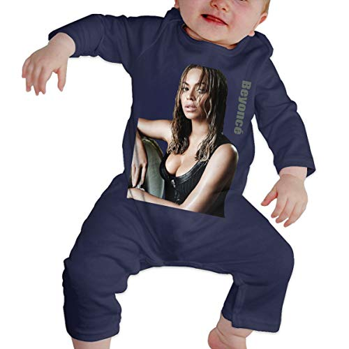 LucyEve Baby Boys Girls Round Neck Long Sleeve Bodysuit Beyoncé Simillar Funny Jumpsuits Sleepwear Navy 46