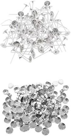 [해외]Fenteer 촛불 심지 촛불 코어 촛불 실 DIY 캔 들 컨테이너 컵 약 200 개 세트 / Fenteer Candle Core Candle Core Candle Thread DIY Candle Container Cup Approx. 200 pieces