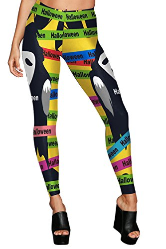 PinWind Girls 2017 Halloween Party Cosplay Clothes Print Stretch Tight Long Legging (Halloween Party Girls 2017)