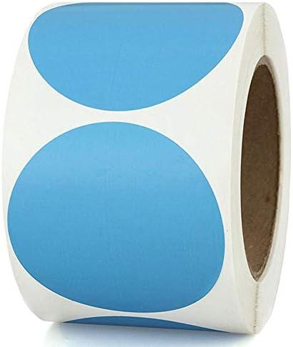 Cokeymove Bunte Punktetiketten - 2,5 cm im Durchmesser Runder Aufkleber mit Klebecode zum Markieren von beweglichen Aufbewahrungselementen, 500 STÜCKE / 1 Rolle Reliable