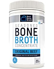 BONE BROTH CONCENTRATE Premium Beef Bone Broth Concentrate - Maximized Nutrition Bone Broth On The Go - No Hormones or Additives, Delicious Natural Flavor, Sourced From AU & NZ Beef - 260g