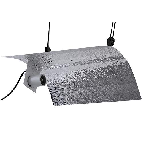 Hanger Reflector (VIVOSUN Gull Wing Reflector Hydroponic Grow Light Hood for 250/400/600/1000W HPS/MH Bulbs - High-Reflectivity VEGA Aluminum Hood- with 1 Pair Rope Hanger, No Bulbs Included)