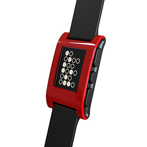 Pebble Smartwatch (Classic) for iPhone and Android Devices - Cherry Red (Certified Refurbished)