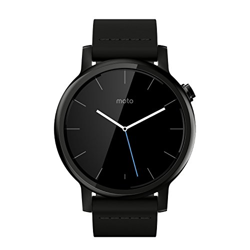 Image of Motorola Moto 360 2nd Gen. Mens 42mm Smartwatch, Black with Black Leather
