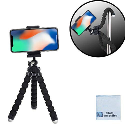 "Acuvar 6.5"" inch Flexible Tripod with Universal Mount for All Smartphones & an eCostConnection Microfiber Cloth from Acuvar"