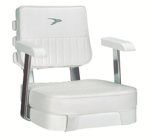 Wise Ladder Back Helm Chair with Arm Rests (White)