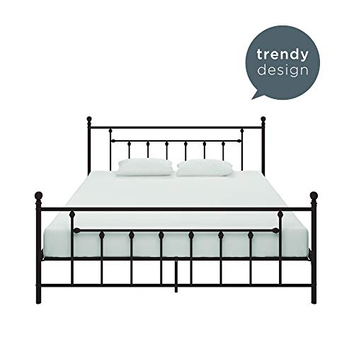 DHP Manila Metal Bed, Bronze, King (Canopy Bed Frame King White)