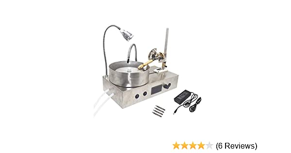 Gemstone Grinding Machine Gem Faceting Machine Jade Stone Angle Machine  Jewelry Polisher Flat Grinder with LED and Water Pump (New Arrival)