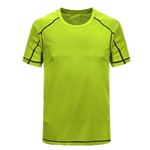 New Summer Ice-Cool T-Shirt Honeycomb Breathable Loose Male Casual Fitness Tops Tees,Green,5XL