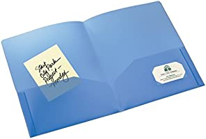 Avery - Translucent Two-Pocket Folder, Blue (47811)
