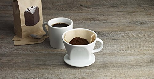 Aerolatte Pour Over Coffee Dripper Reusable Filter Cone Brewer, Number 4-Size, Brews 8 to 12-Cups by aerolatte (Image #4)
