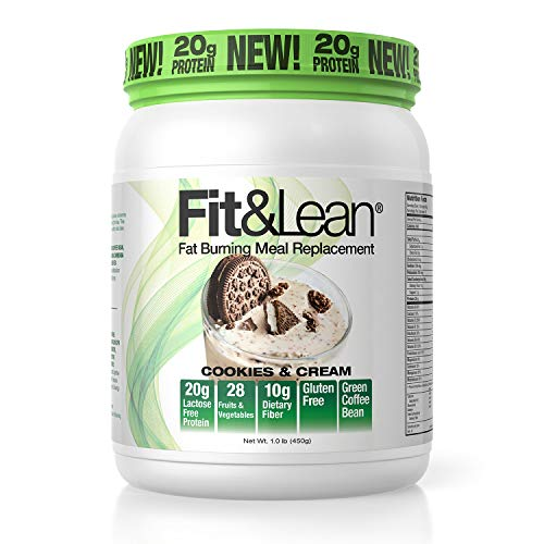 Fit & Lean Fat Burning Meal Replacement, Cookies & Cream, 1 lb ()
