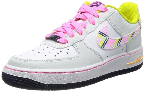 Nike Air Force 1 06 (GS) Mädchen Sneakers LT BS GRY/WHITE-PNK GLW-VNM GR