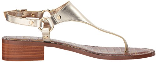 Women's Sandal Jude Edelman Gold Metallic Molten Sam Heeled Leather qfgBwx5A