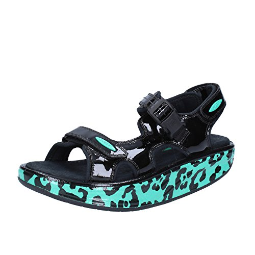 Chaussures Vert femme brides Noir à MBT 7wdq14xX7