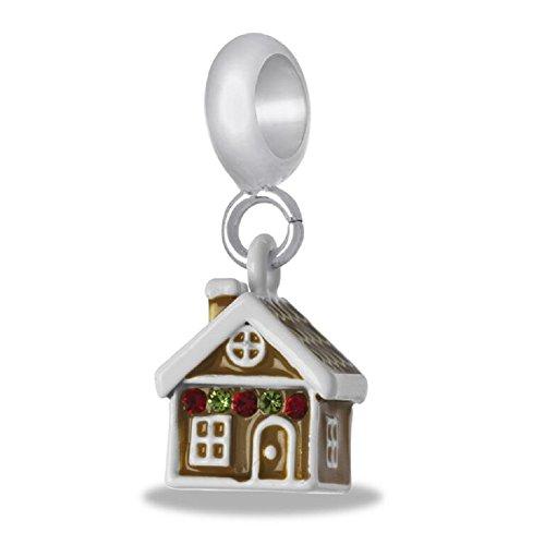 Gingerbread House Charm (DaVinci Gingerbread House Dangle Bead)