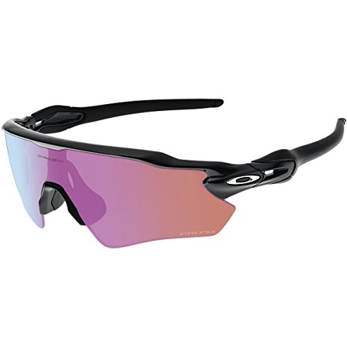 Oakley Men's Radar Ev Path Non-Polarized Iridium Rectangular Sunglasses, Polished Black w/Prizm Golf, 138 mm -