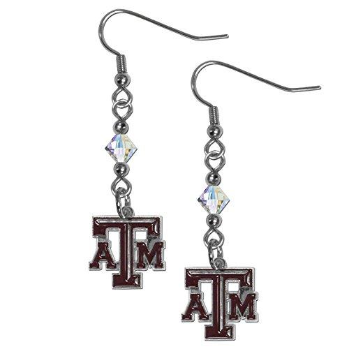 - NCAA Texas A&M Aggies Crystal Dangle Earrings