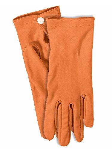 - Forum Novelties 71523 Short Colored Gloves, Standard, Orange