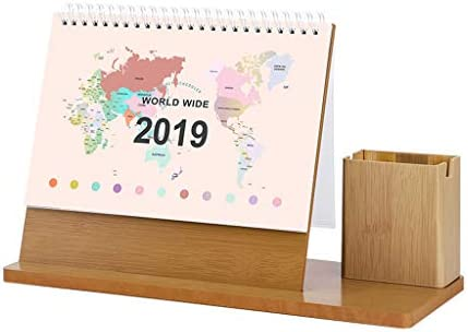 Amazon.com : Simple Small Fresh Wooden Calendar Kawaii 2019 ...