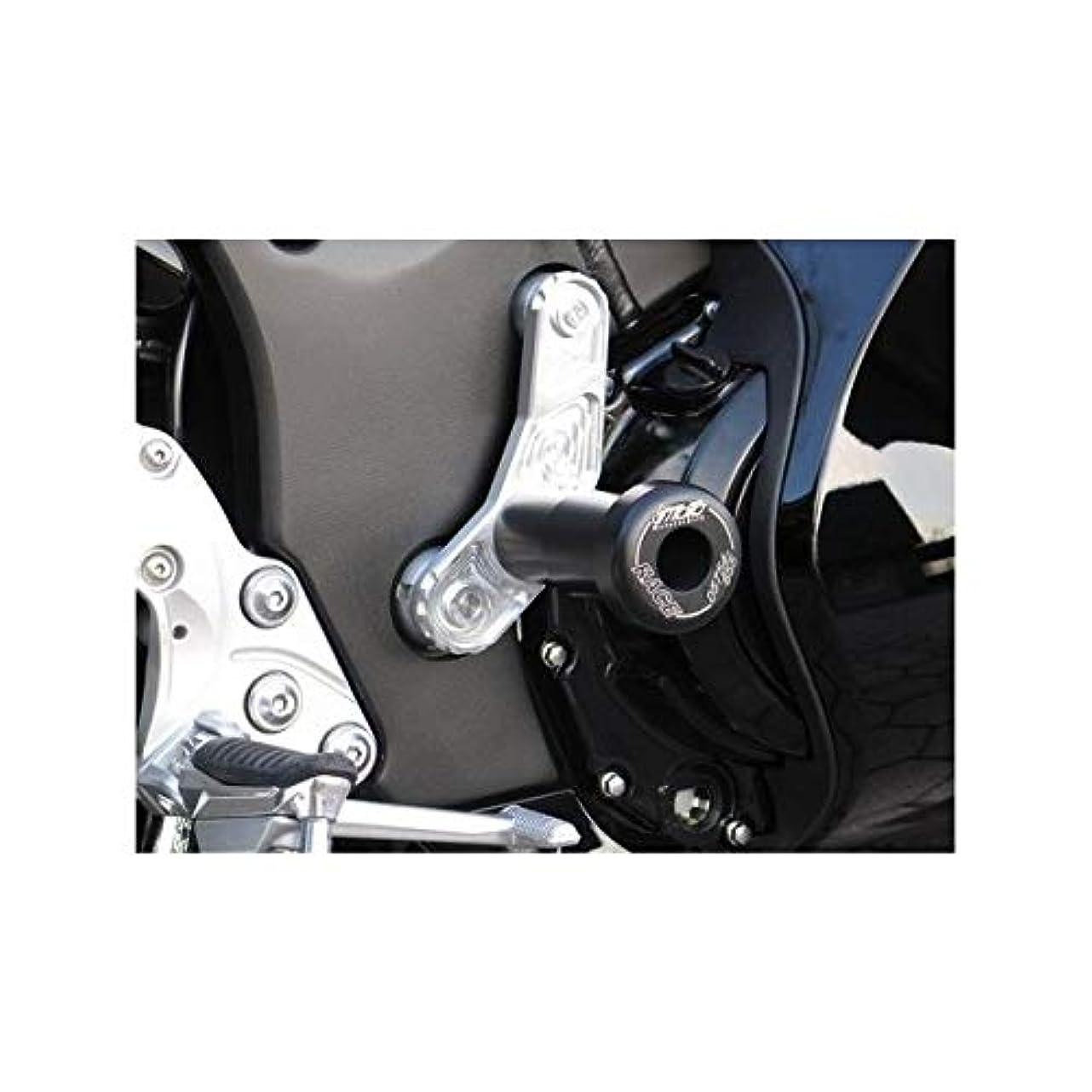 水分つらい教育するオーヴァーレーシング(OVERRACING) フロント/リア アクスルスライダーセット ジュラコン ブラック MT-09(14-16)/MT-09 TRACER(15-16)/XSR900 59-45-21