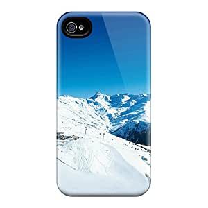 Excellent Iphone 4/4s Case Tpu Cover Back Skin Protector The Ski Resort