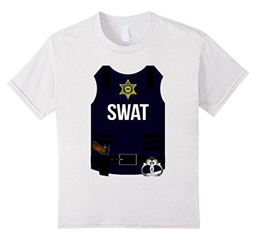 Kids SWAT Halloween Costume Shirt - Police Cop Men Women Youth 6 (Police Costumes Ideas)