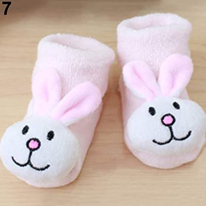 01-Frog Fashion Toys-Infant Newborn Baby Boy Girl Anti Slip Shoes Animal Cartoon Slippers Boots Socks