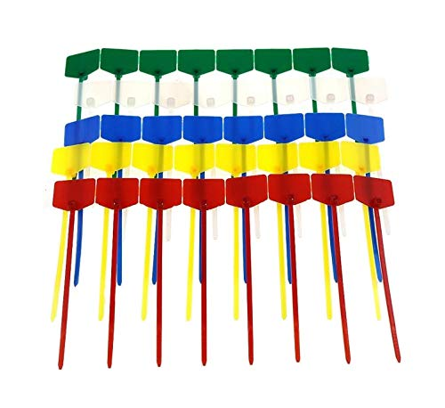 100PCS 3 X120 red yellow blue green white milk 5 colors Wire and cable label trademark self locking nylon ribbon