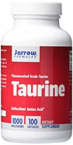 Jarrow Formulas Taurine, Brain and Memory Support, 1000 mg, 100 Caps