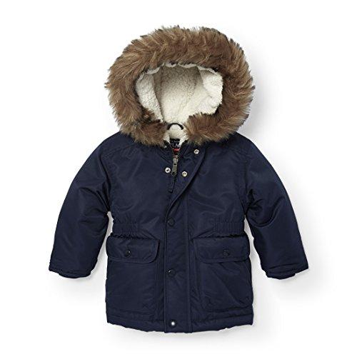 The Children's Place Little Boys Faux Fur Lined Parka Jacket 1, Tidal, 2T