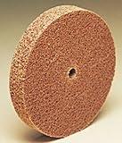 3M Scotch-Brite CP-UW Unitized Aluminum Oxide Hard Deburring Wheel - Coarse Grade - Arbor Attachment - 3 in Dia 3/8 in Center Hole - Thickness 1/8 in - 18100 Max RPM - 18792 [PRICE is per CASE]
