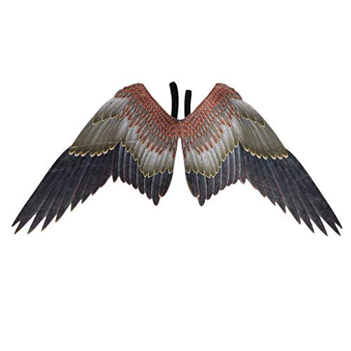 Dermanony Unisex Stage Props Angel Eagle Wings Mardi Gras Interesting Cosplay Costume Props Holiday Festival Party Angel Black (Stage Wings)