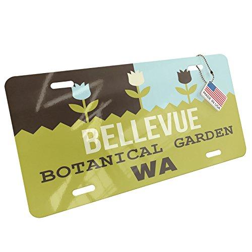 Metal License Plate US Gardens Bellevue Botanical Garden - WA - Neonblond (Wa Bellevue Us)