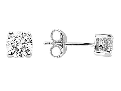Boucles d'Oreilles Diamants Solitaires 0.79 Carat-Femme- or Blanc 215E0024
