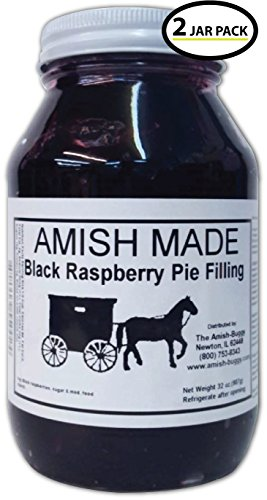 Amish Pie Filling Black Raspberry - TWO 32 Oz Jars