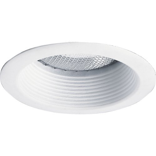 Progress Lighting P8175-28 Step Baffle 6-1/8-Inch Diameter For Ic and Non-Ic Housings, Bright White by Progress Lighting