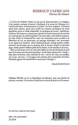 Amazoncom Rimbaud Lafricain Diseur De Silence Poésie